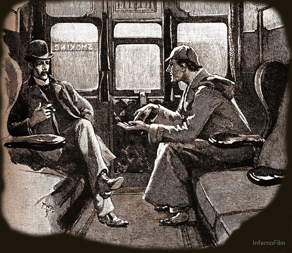 Sherlock Holmes and Watson on a train by Sidney Paget by InfernoFilm