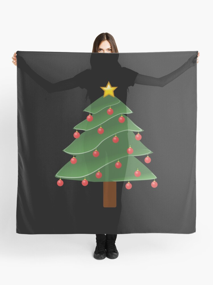 Christmas Tree Emoji.Christmas Tree Emoji For Christmas Holidays Scarf