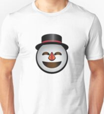 Jolly Mr. Snowman Emoji from Winter Wonderland Unisex T-Shirt