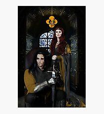 Sandor Clegane and Sansa Stark Photographic Print