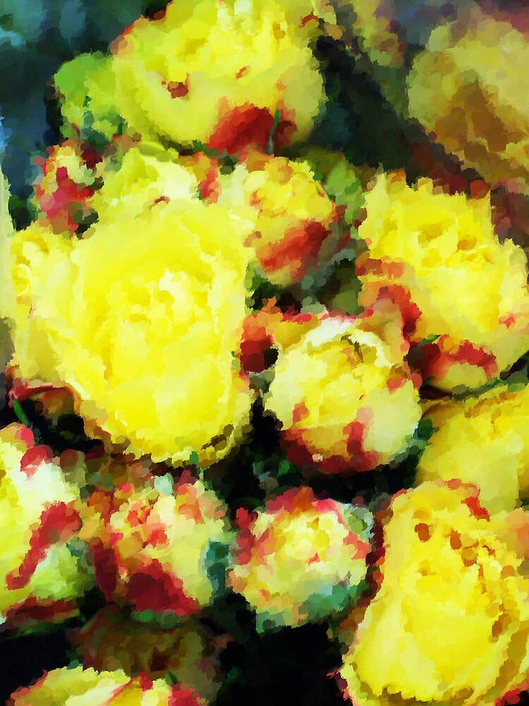 Yellow Rose Impression  by Michelle BarlondSmith