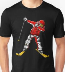 Dabbing Skier T shirt Ski Skiing Winter Sport Games T-shirt Gifts Unisex T-Shirt