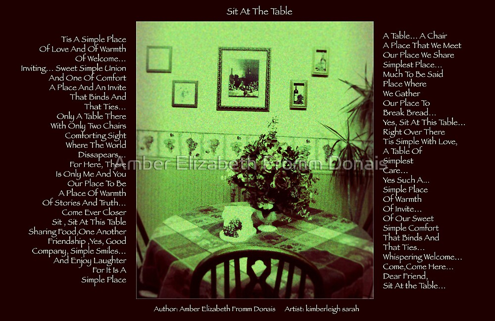 Sit At The Table  by Amber Elizabeth Fromm Donais