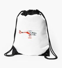 Rescue Helicopter  Drawstring Bag