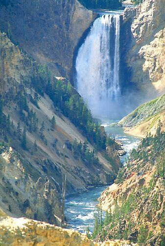 Lower Yellowstone Falls by blakbear97