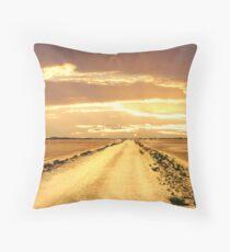 Across Lake Austin into the sunset Throw Pillow