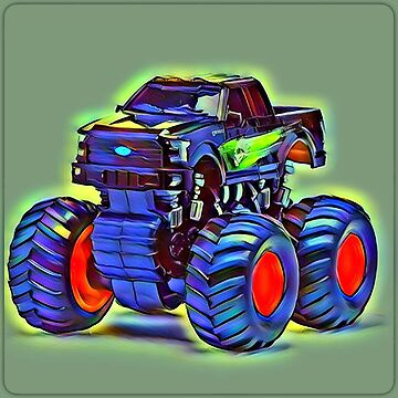 Big Blue Art Abstract Truck by Keywebco