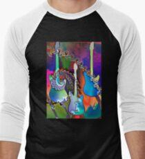 Psychedelic Guitars Men's Baseball ¾ T-Shirt