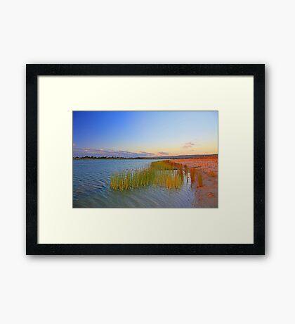 Champion Lake At Sunset  Framed Print