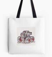 Japan Art Style Truck Tote Bag