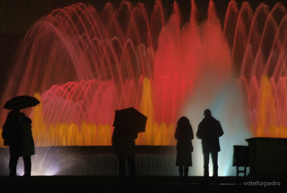fountain silhouette by voteforpedro