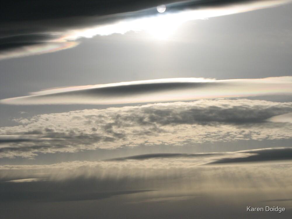 Sun toward the horizon by Karen Doidge