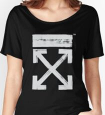 Off-White Brush Arrows Women's Relaxed Fit T-Shirt