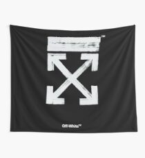 Off-White Brush Arrows Wall Tapestry