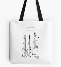 Clarence Fender Guitar Patent Tote Bag