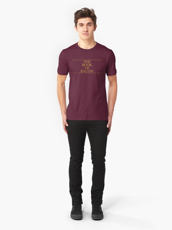 Alternate view of The Book of Bacon Slim Fit T-Shirt