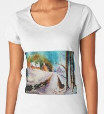 Snowy Christmas eve Women's Premium T-Shirt
