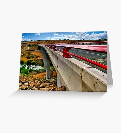 """Bridge on the River Moorabool"" Greeting Card"