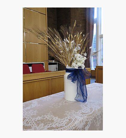 Hochzeit Tischdekoration Fotodruck