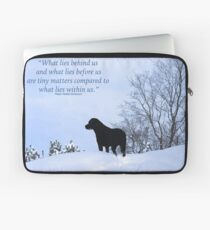 Within Us - Black Labrador Laptop Sleeve