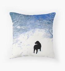 Treasures - Black Labrador Throw Pillow