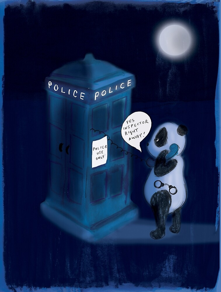 Officer Panda Police Box by Ashley Crowley