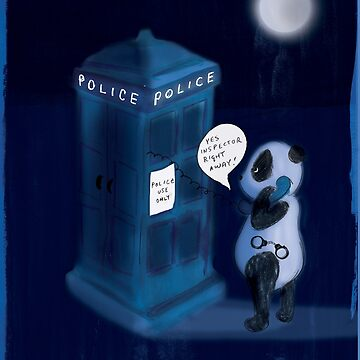 Officer Panda Police Box by ashleycrowley1