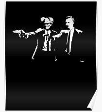 Schopenhauer and Nietzsche - Fun Philosophy Shirt Poster