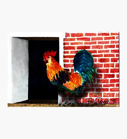 Barnyard Rooster Photographic Print