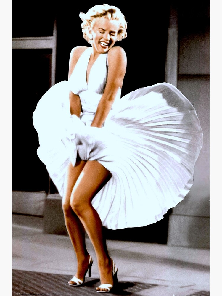 MARILYN MONROE: Scene of her Skirt Blowing Up Print by posterbobs
