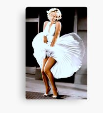 MARILYN MONROE: Scene of her Skirt Blowing Up Print Canvas Print