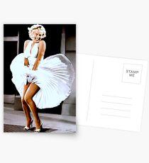 MARILYN MONROE: Scene of her Skirt Blowing Up Print Postcards