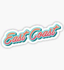Ostküsten-Typografie Sticker