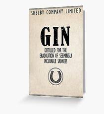 Gin The Eradication of Sadness Greeting Card