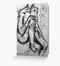 Fingerprint nude Greeting Card