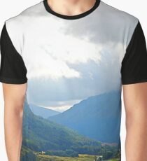 A glen in the Scottish Highlands Graphic T-Shirt