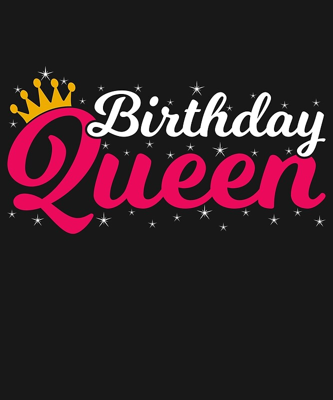 """Birthday Queen Girly Gift Gold Crown Birthday"" By"
