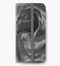 RPG Necromancy Fantasy Fengil Sorcerer Wizard Necromancer casting a black magic spell in his secret dungeon iPhone Wallet/Case/Skin