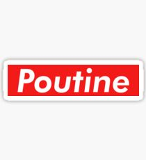 Poutine Sticker & T-Shirt - Gift For Canadian Sticker