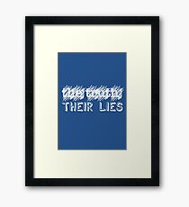 Paramore: Scribbled Out the Truth with Their Lies - WHT Framed Print