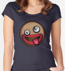 Crazy Gingerbread Man Women's Fitted Scoop T-Shirt