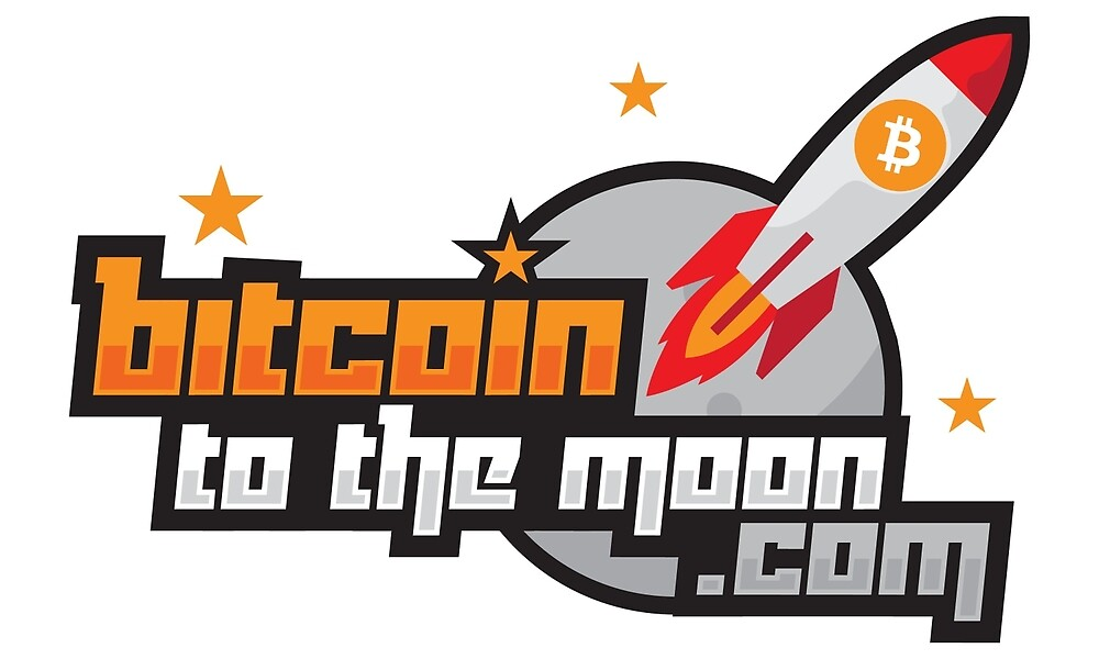 Bitcoin to the Moon Rocket by BitcoinStore