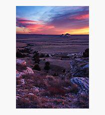 Pawnee Buttes December Sunrise Photographic Print