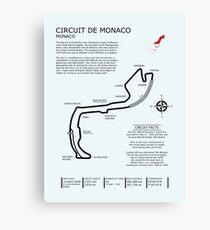 Rennstrecke von Monaco Leinwanddruck