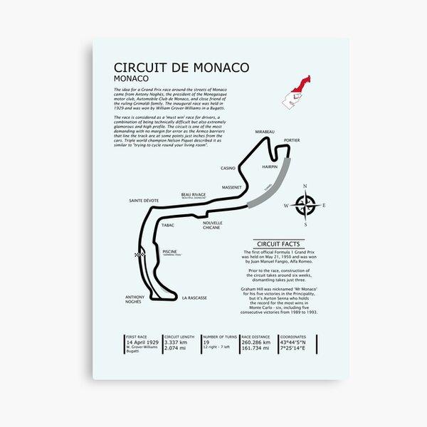 Circuit De Monaco Canvas Print