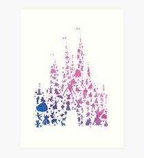 Character Castle Inspired Silhouette Art Print