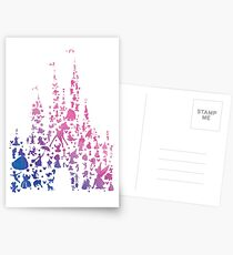 Character Castle Inspired Silhouette Postcards