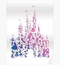 Character Castle Inspired Silhouette Poster