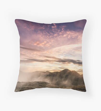 The Devil's Sunset Throw Pillow