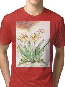 Glorious Daffodils Tri-blend T-Shirt